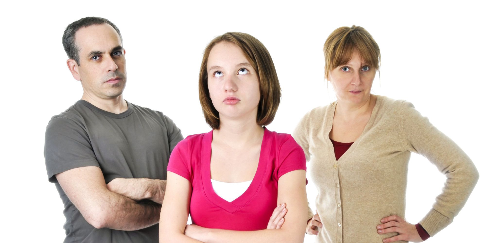 Teenage girl in trouble with parents